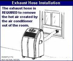 Exhaust hose installation